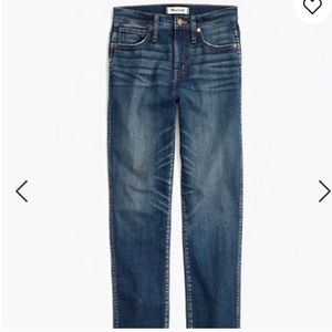 MADEWELL petite straight jeans in Hammond Wash